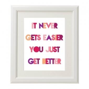 It never gets easier