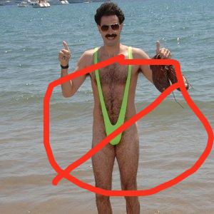 Borat.  Thong.