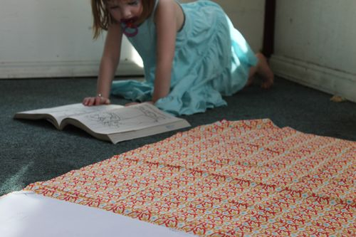 cutting fabric for quick change trousers
