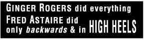 Ginger Rogers dance