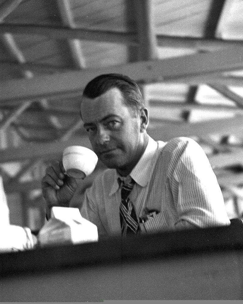 1948 Dick Brecheisen drinking coffee
