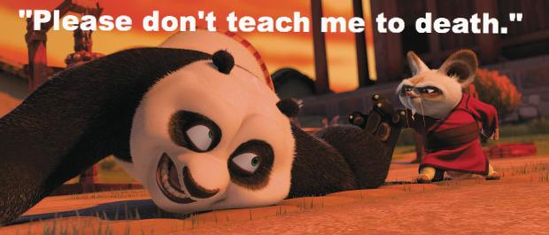 please don't teach me to death